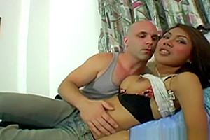 Filipina hard in her tight man pussy...
