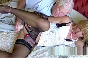 Tasty old twink gives trannys constricted a hole...