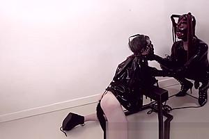 Latex bodysuit...