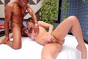 Latina tranny plowed after modeling booty...