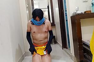 Tranny slut tries various lingeries for her fuck...
