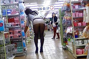 Pantyhose public exhibitionism upskirt...