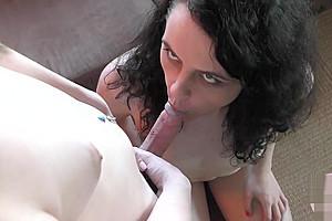 Tastes girlfriends hot jizz...