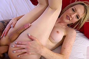 Lesbian tranny sucking and riding hard dick...