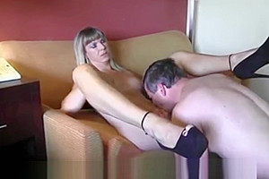 Old boss with her tranny secretary...
