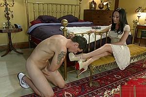 Fucks handcuffed male...