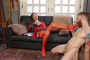 Delivery man stockings...