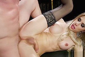 Blindfolded busty anal sex...