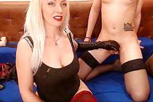 Mistress dominating slave...