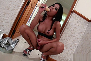 Dao strokes big anal probe...